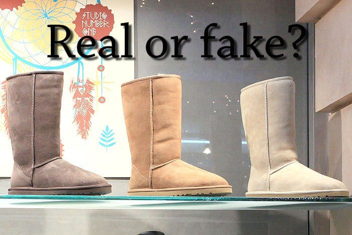 How to spot fake UGGs