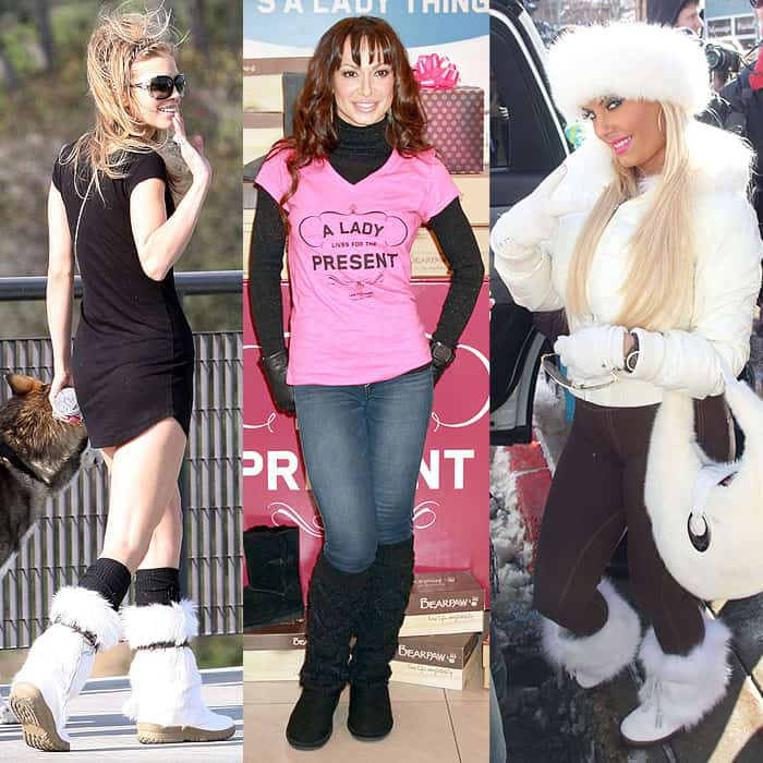 Celebrities wearing Bearpaw sheepskin boots