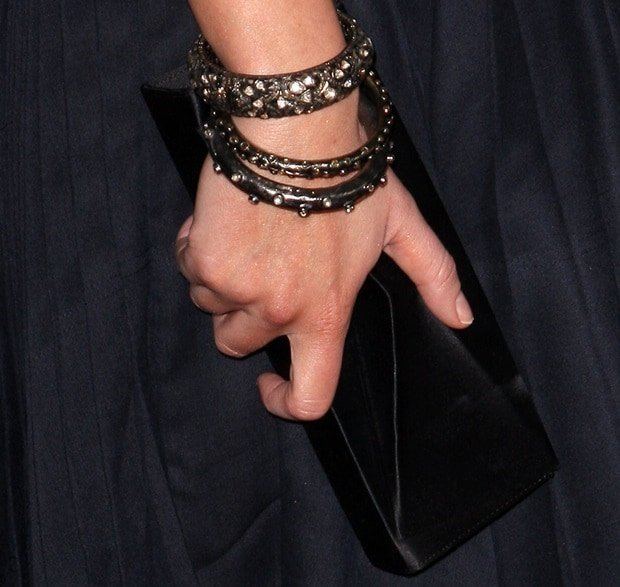 Emily Blunt showing off her Irit jewelry