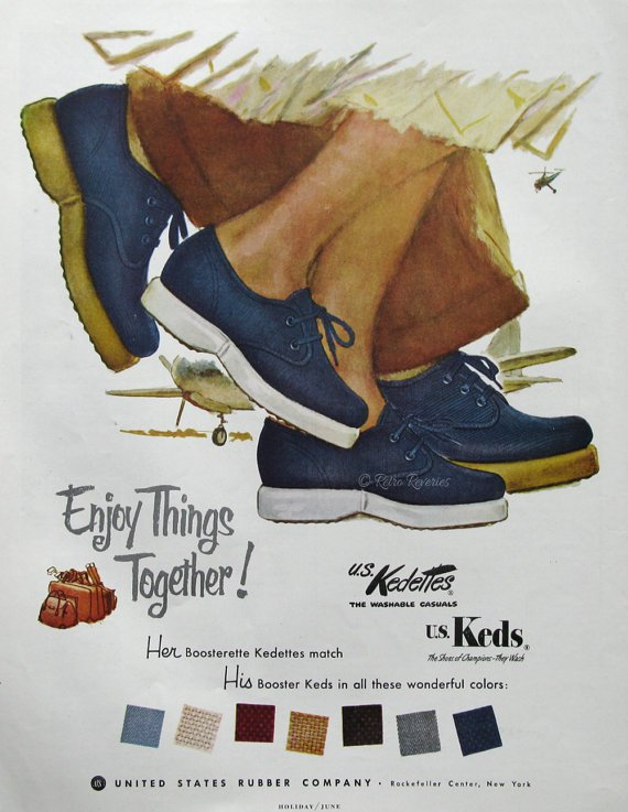 Keds advertisement from 1953