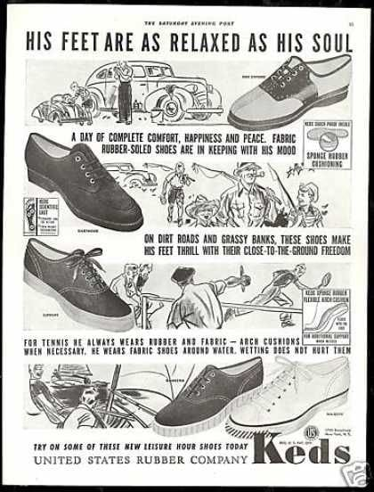 Keds advertisement from 1939