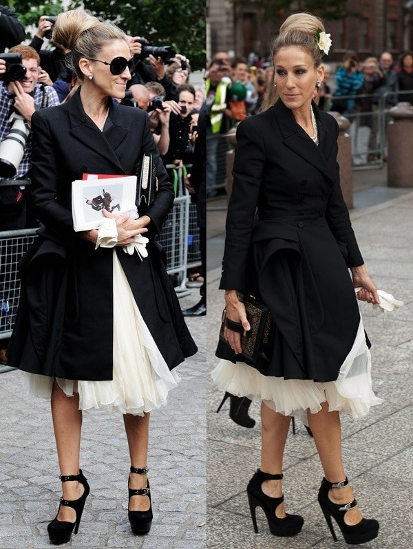 Sarah Jessica Parker attending Alexander McQueen's Memorial at St Pauls Cathedral in London on September 20, 2010