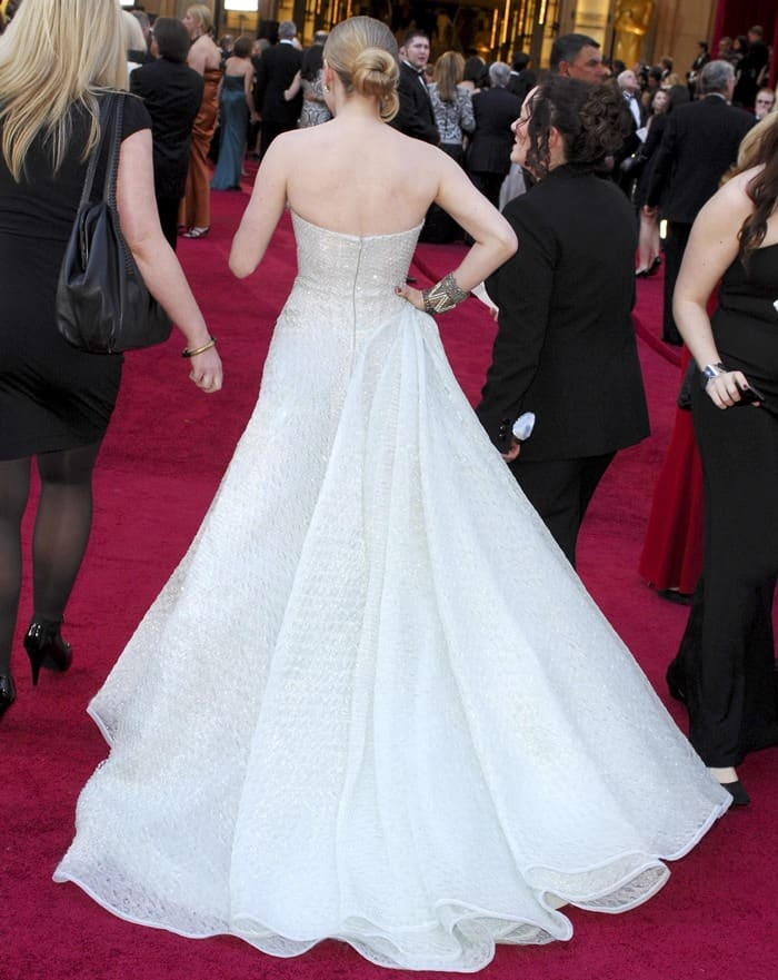 Amanda Seyfried in Giorgio Armani Privé at the 82nd Annual Academy Awards, Oscars, at the Kodak Theatre in Los Angeles, California on March 7, 2010