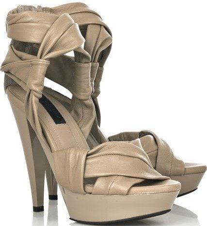 Burberry Prorsum Twisted Band Platform Sandals