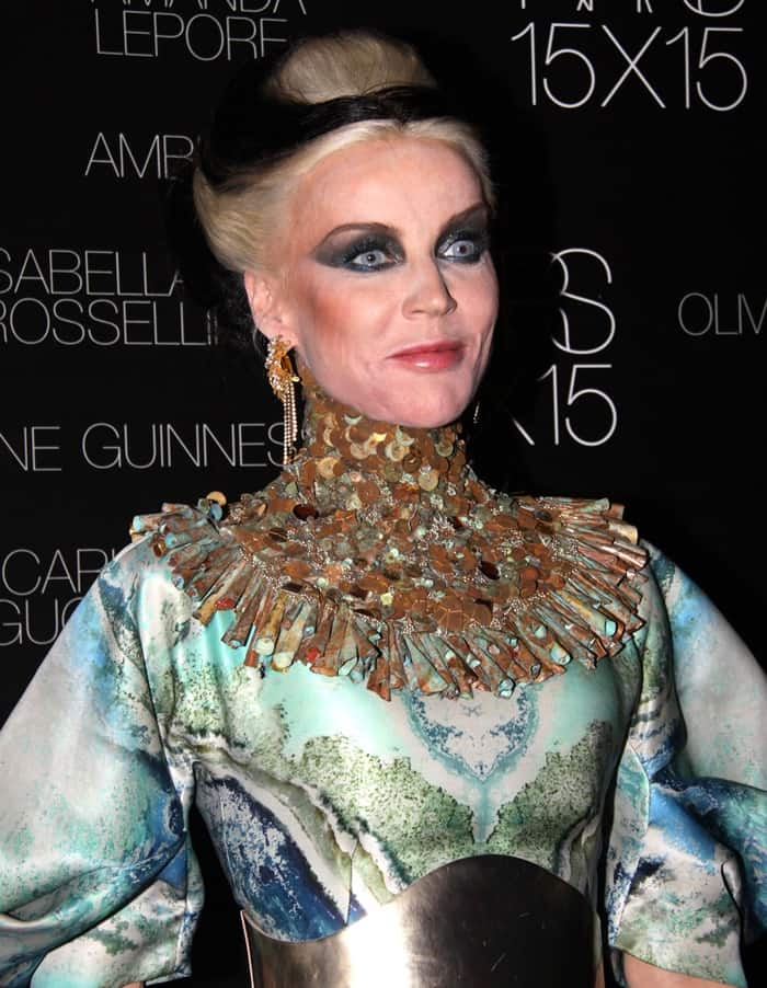 Daphne Guinness at the launch of Nars 15X15 in New York City on November 12, 2009
