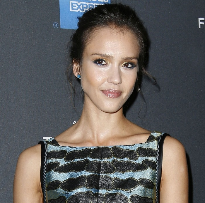 I wouldn't have pegged the Jessica Alba now as someone who would wear Proenza Schouler