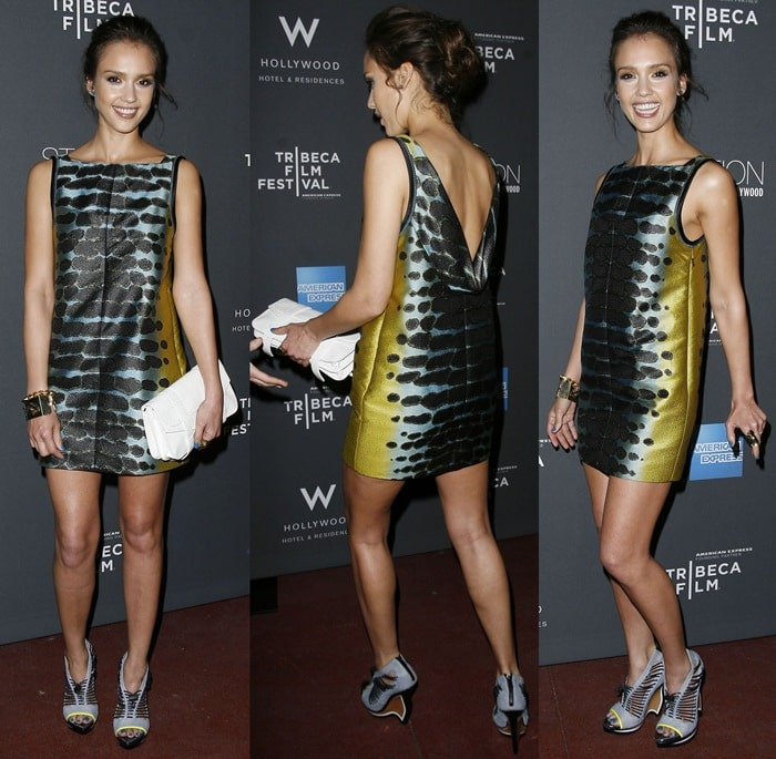 Jessica Alba attends the 2010 Tribeca Film Festival Program and Tribeca Film Celebration held at the Station at the W Hollywood Hotel & Residences in Hollywood