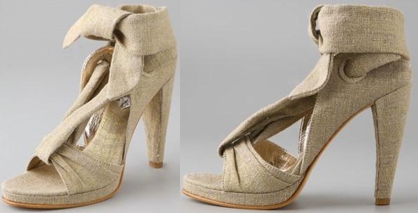 Tashkent by Cheyenne The Sanchez Linen Sandals on High Heel