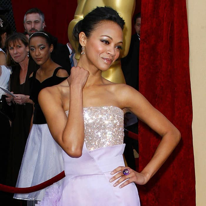 Zoe Saldana in Givenchy at the 82nd Annual Academy Awards, Oscars, at the Kodak Theatre in Los Angeles, California on March 7, 2010
