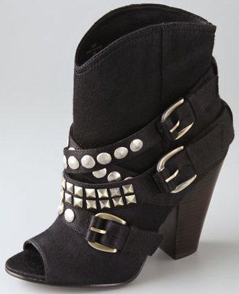Ash Ivy Open Toe Studded Booties