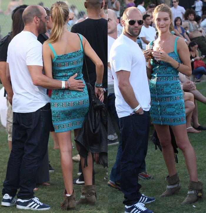 Rosie Huntington-Whiteley and Jason Statham at the 2010 Coachella Valley Music and Arts Festival - Day 3 - in Indio, California on April 18, 2010