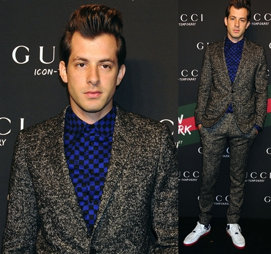 Mark Ronson at the launch of the Gucci Icon-Temporary Flash Sneaker store in Soho New York City, October 23, 2009