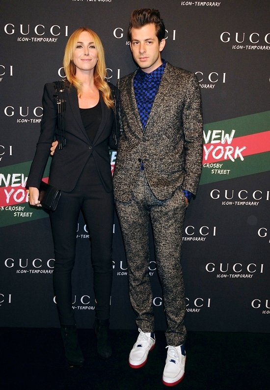 Frida Giannini and Mark Ronson at the launch of the Gucci Icon-Temporary Flash Sneaker store in Soho New York City, October 23, 2009