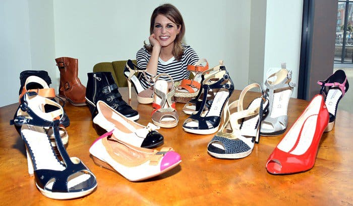 Actress Amy Huberman needs to put in some work if she wants her shoes to last longer