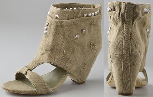 Ash Spin Wedge Booties with Studs