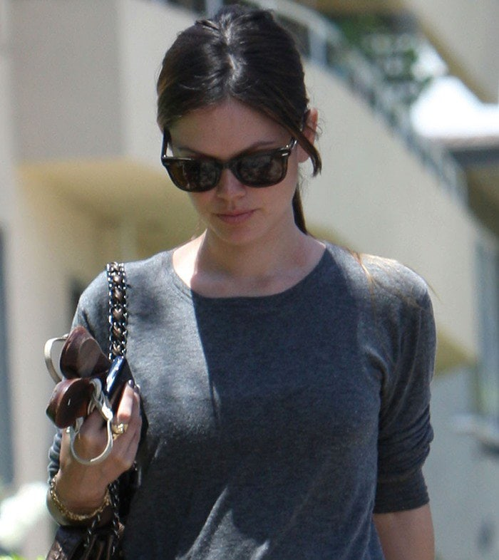 Rachel Bilson goes to a friend's place in Hollywood on May 30, 2010