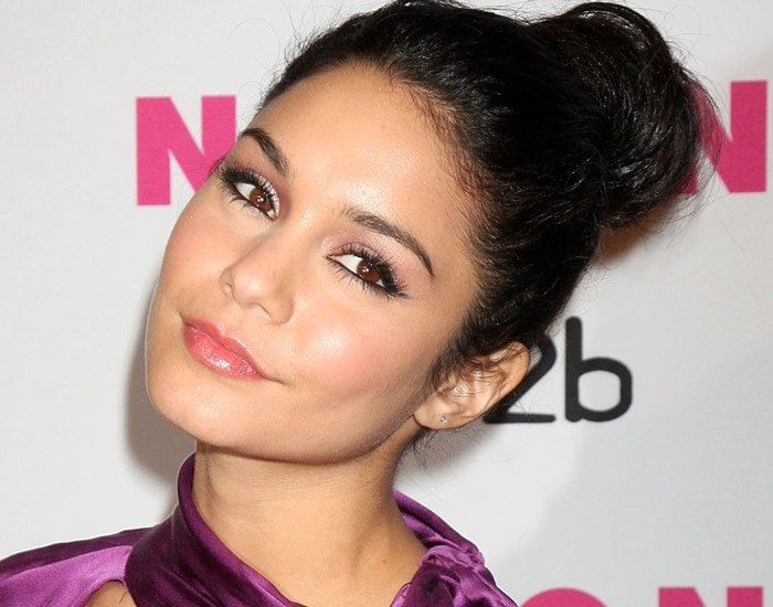 The pulled back hair was a bit too harsh and the makeup on Vanessa Hudgens was a little heavy
