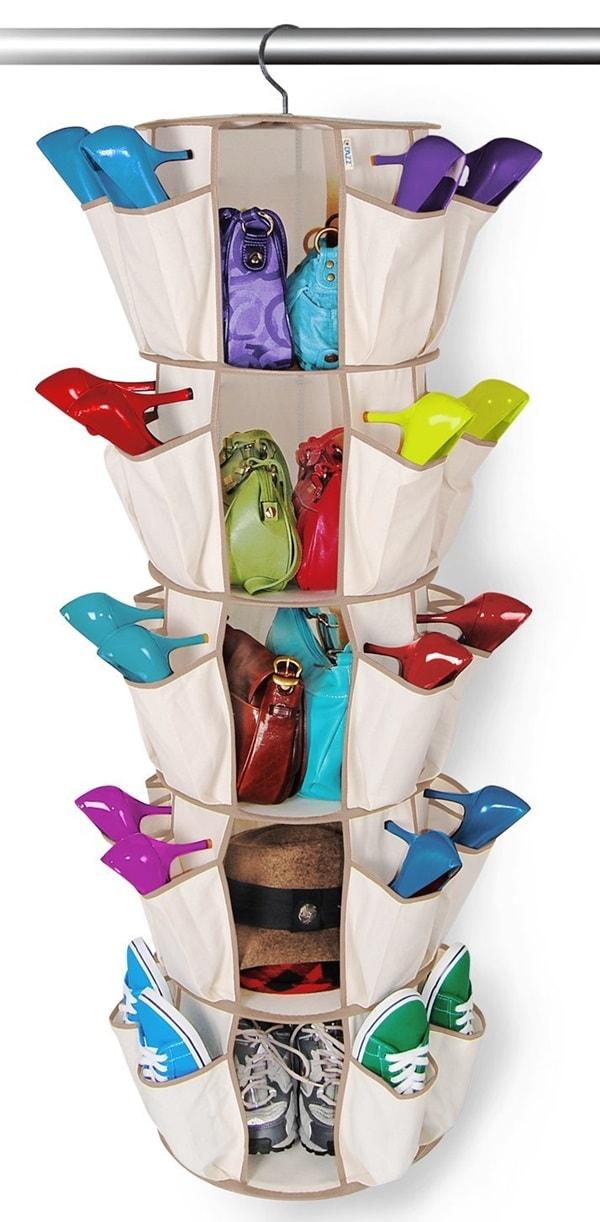 DAZZ Smart Carousel Shoe Organizer