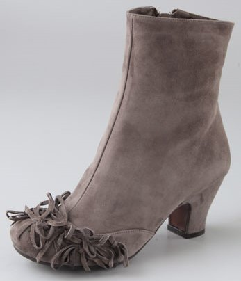 Chie Mihara Shoes Jaeta Suede Booties with Small Bows