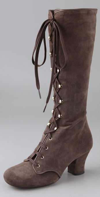 Chie Mihara Shoes Quechu Lace Up Suede Boots