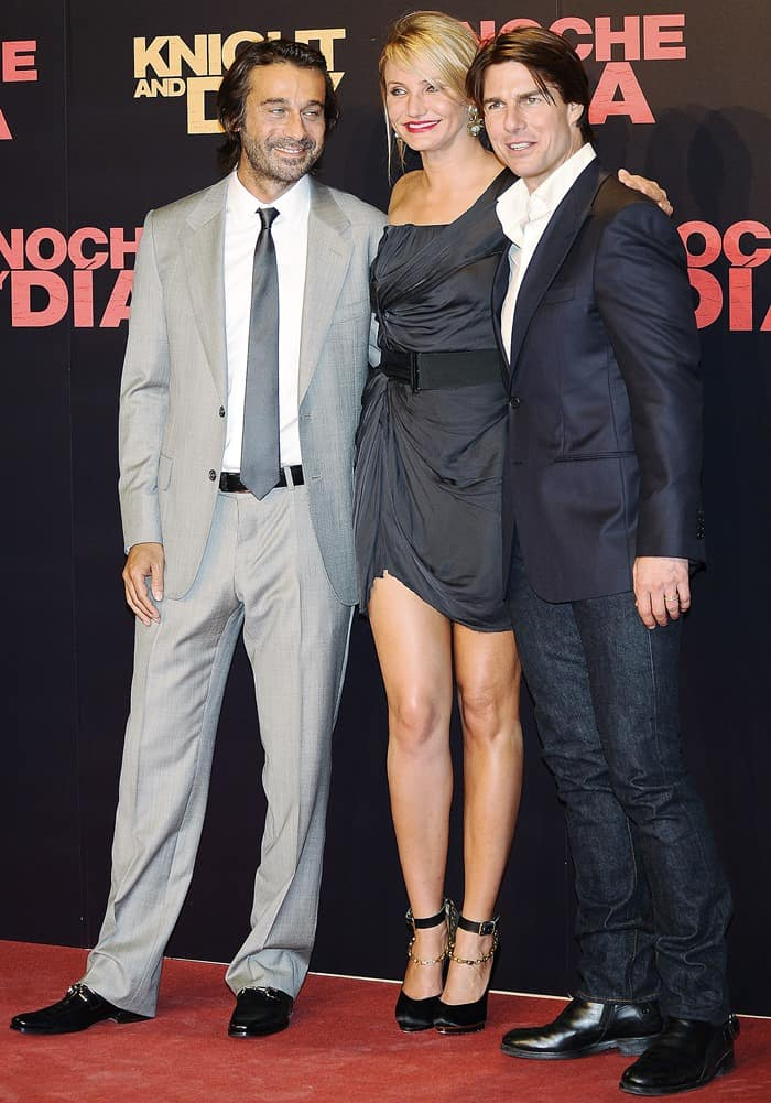 Spanish actor Jordi Molla, Tom Cruise and Cameron Diaz