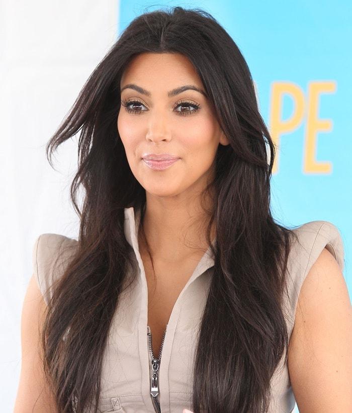 Kim Kardashian attending aShape Magazine event