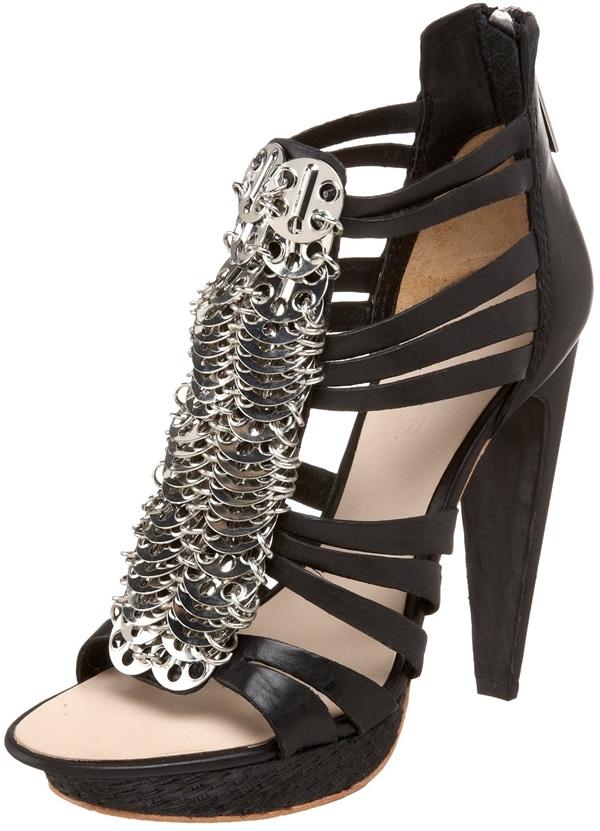 L.A.M.B. 'Dalva' Silver Coin Leather Sandals