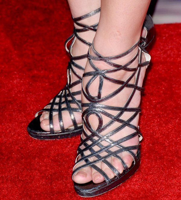 Ashley Greene shows off her sexy toes inJimmy Choo Verity sandals