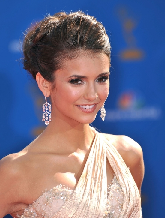 Nina Dobrev at the 62nd Primetime Emmy Awards (The Emmys) held at the Nokia Theatre in Los Angeles on August 29, 2010