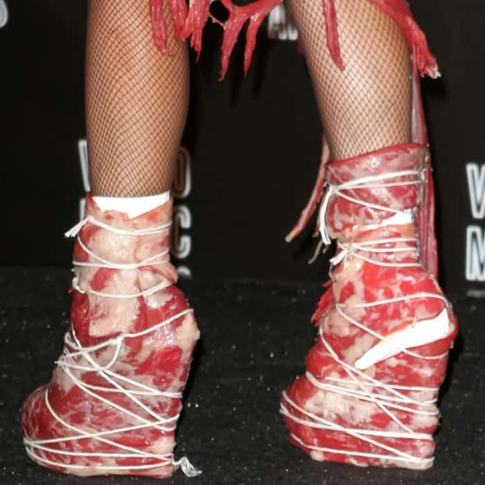 Lady Gaga's meat platform booties