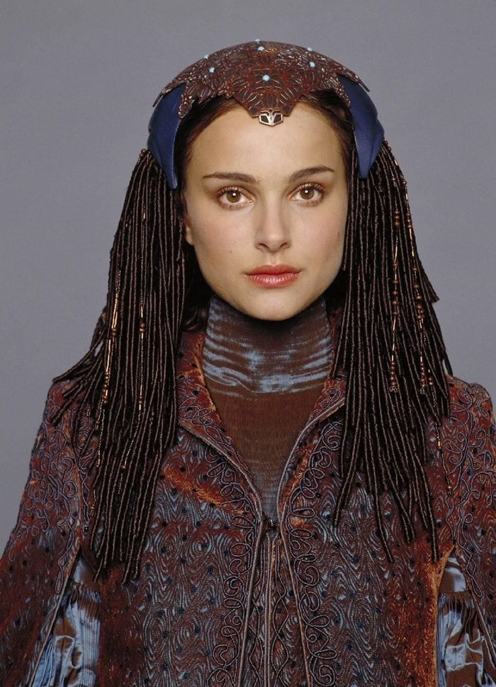 Near the end of Star Wars: Episode I: The Phantom Menace, Natalie Portman's character Queen Amidala reveals that she's also Padme, one of the Queen's handmaidens