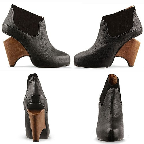 Jeffrey Campbell Christie Booties in Black Leather