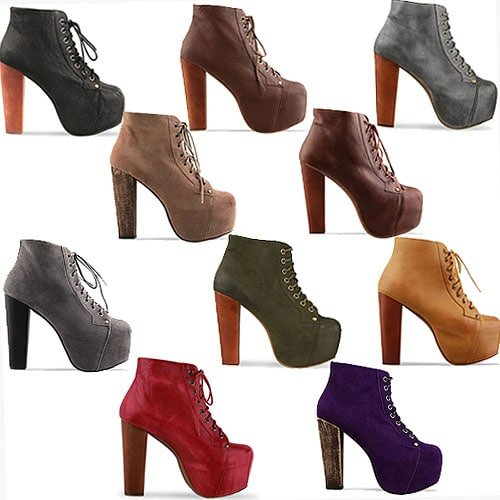 All the colors of the Jeffrey Campbell 'Lita' boots