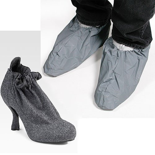 Nina Ricci Wool Flannel Ankle Boots vs. disposable hospital shoe covers