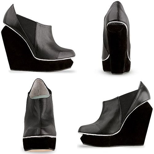 Senso Acacia Wedge Ankle Boots in Black Matt