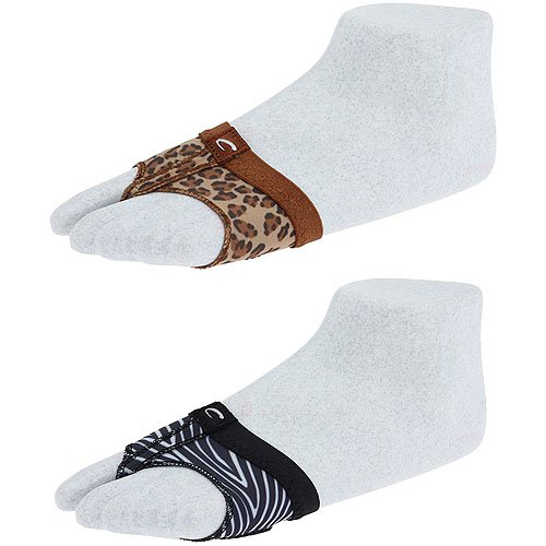 Capezio footUndeez in Leopard and Zebra