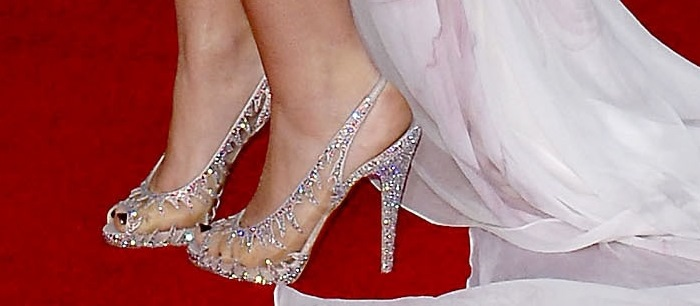"""Miley Cyrus wearing THE official """"Sexiest Shoes of the Year"""""""