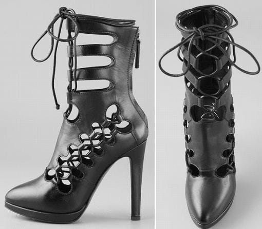 Giuseppe Zanotti for Christopher Kane Tall Laced Booties
