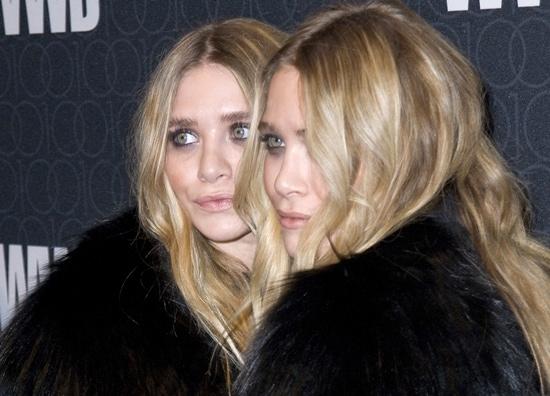 Ashley Olsen and Mary-Kate Olsen both wore elegant coats