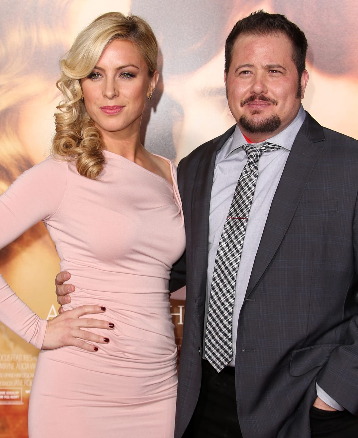 """Chaz Bono with his then-girlfriend Sarah Schreiber at the premiere Of Focus Features' """"The Danish Girl"""""""