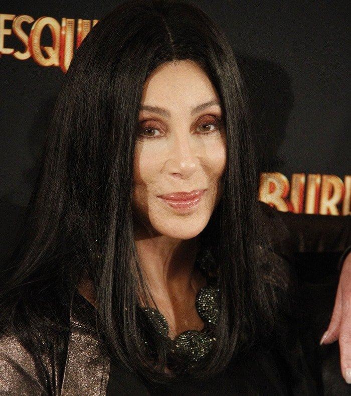 Cher ina rock star worthy metallic jacket