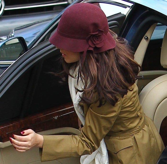 """Cheryl Cole arrives at Fountain Studios in London to film """"The X-Factor"""""""