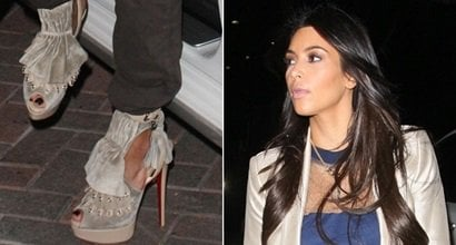 1a818f4494d Kim Kardashian Looks Shorter in Misfit Boots and Scrunched Up Cargos