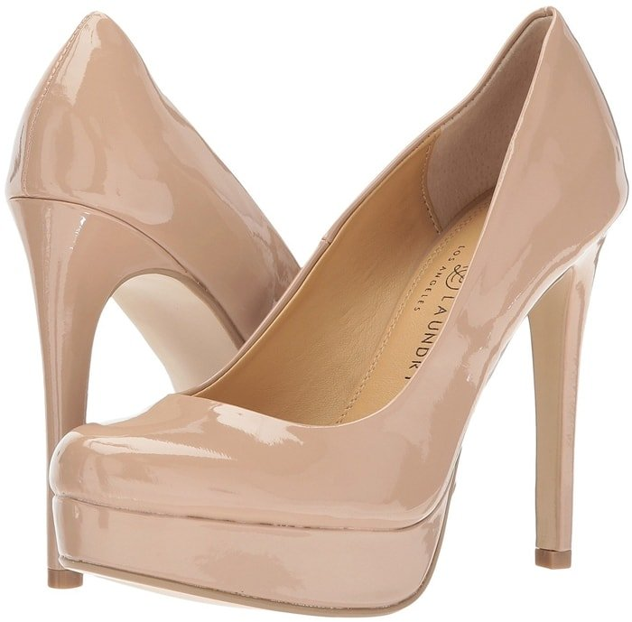 The fiercely-chic nude Chinese Laundry Wendy platform pump will be the perfect staple for your collection