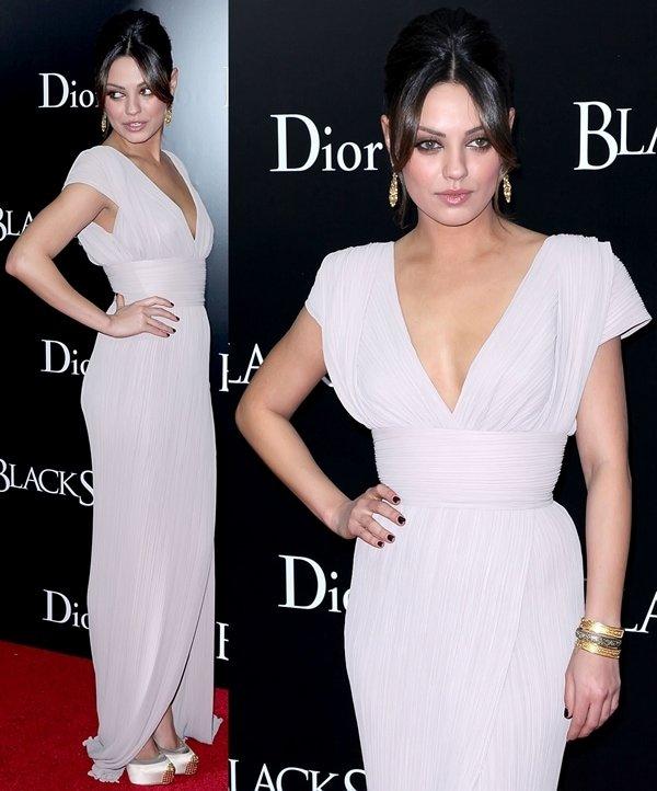 Mila Kunis in a stunning Elie Saab Spring 2011 gown at the premiere of Black Swan