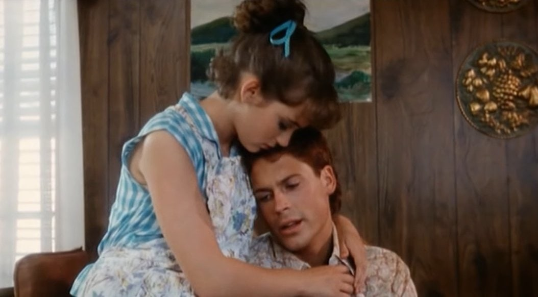 Rob Lowe as Rory and Winona Ryder as Gemma Dillard in the 1987 American drama film Square Dance