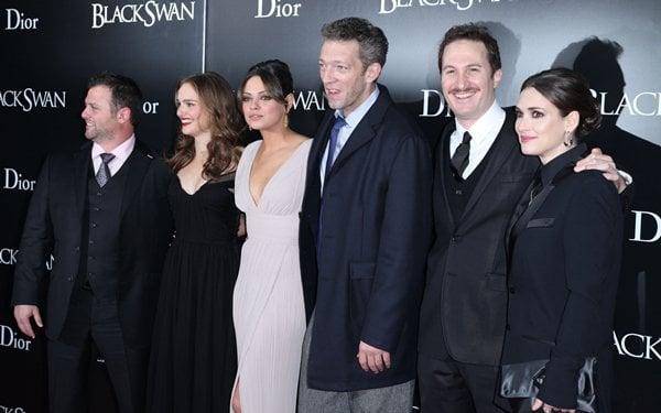 Producer Scott Franklin, Natalie Portman, Mila Kunis, and Vincent Cassell, director Darren Aronofsky and Winona Ryder