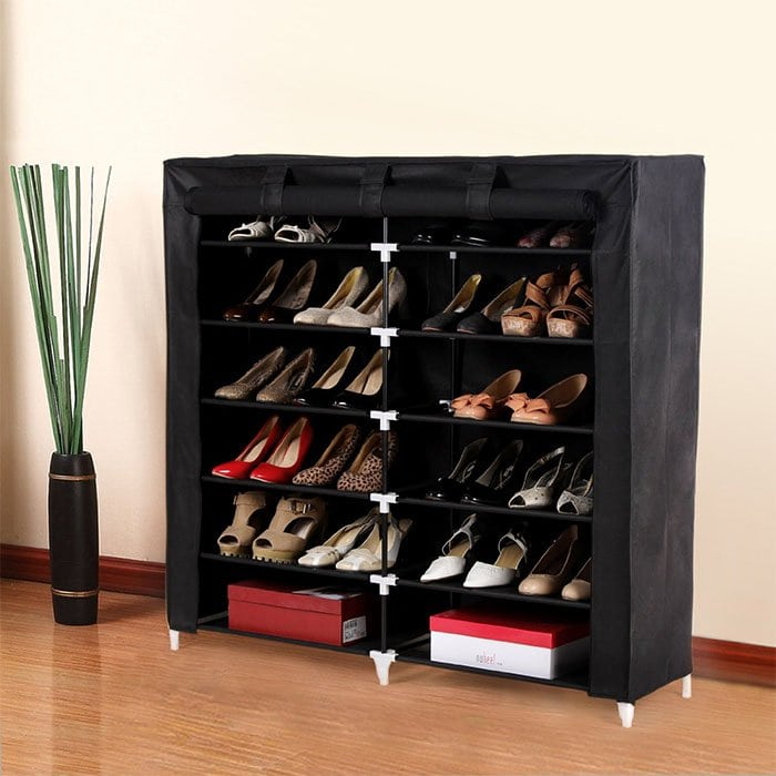 Songmics 7-Tier Portable Shoe Rack Closet with Fabric Cover