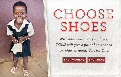 TOMS Giving has reached more than 70 million people across six continents