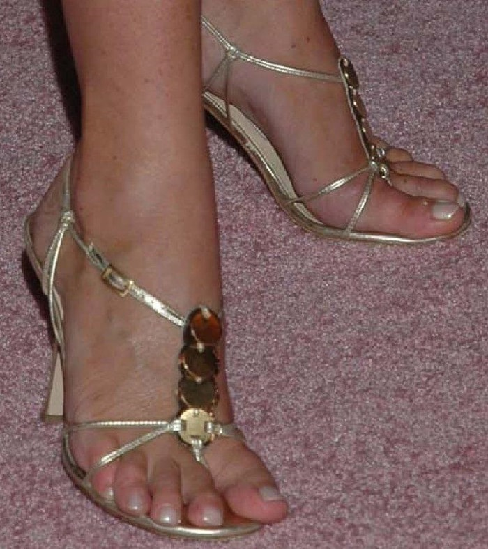 Tamara Mellon showing off her feet in sexy sandals